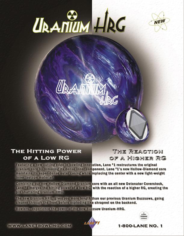 Lane#1 Uranium HRG - BBE BowlingBallExchange